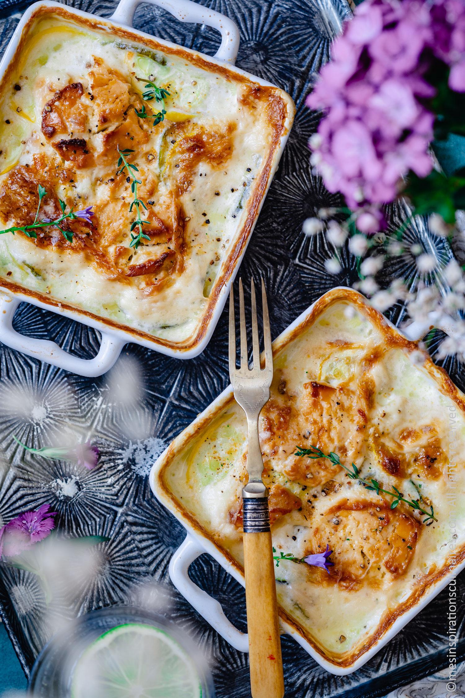recette de gratin au four a la courgette