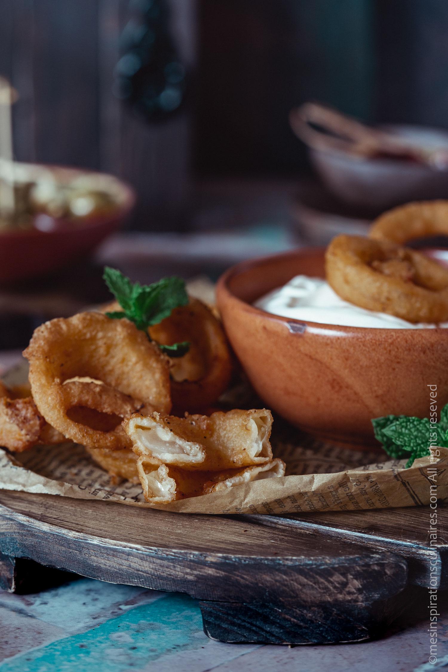 oignons panés frits