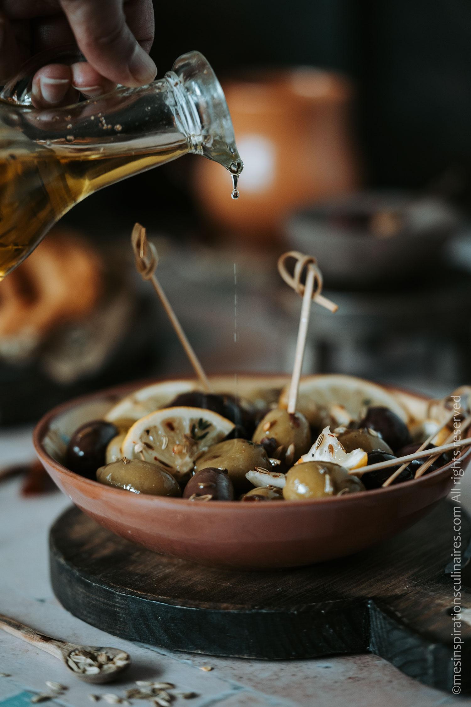 olives marinées aux herbes