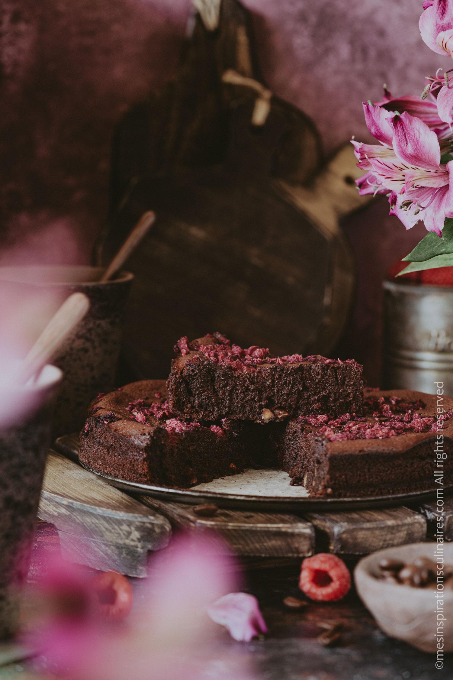 fondant chocolat noir et framboises