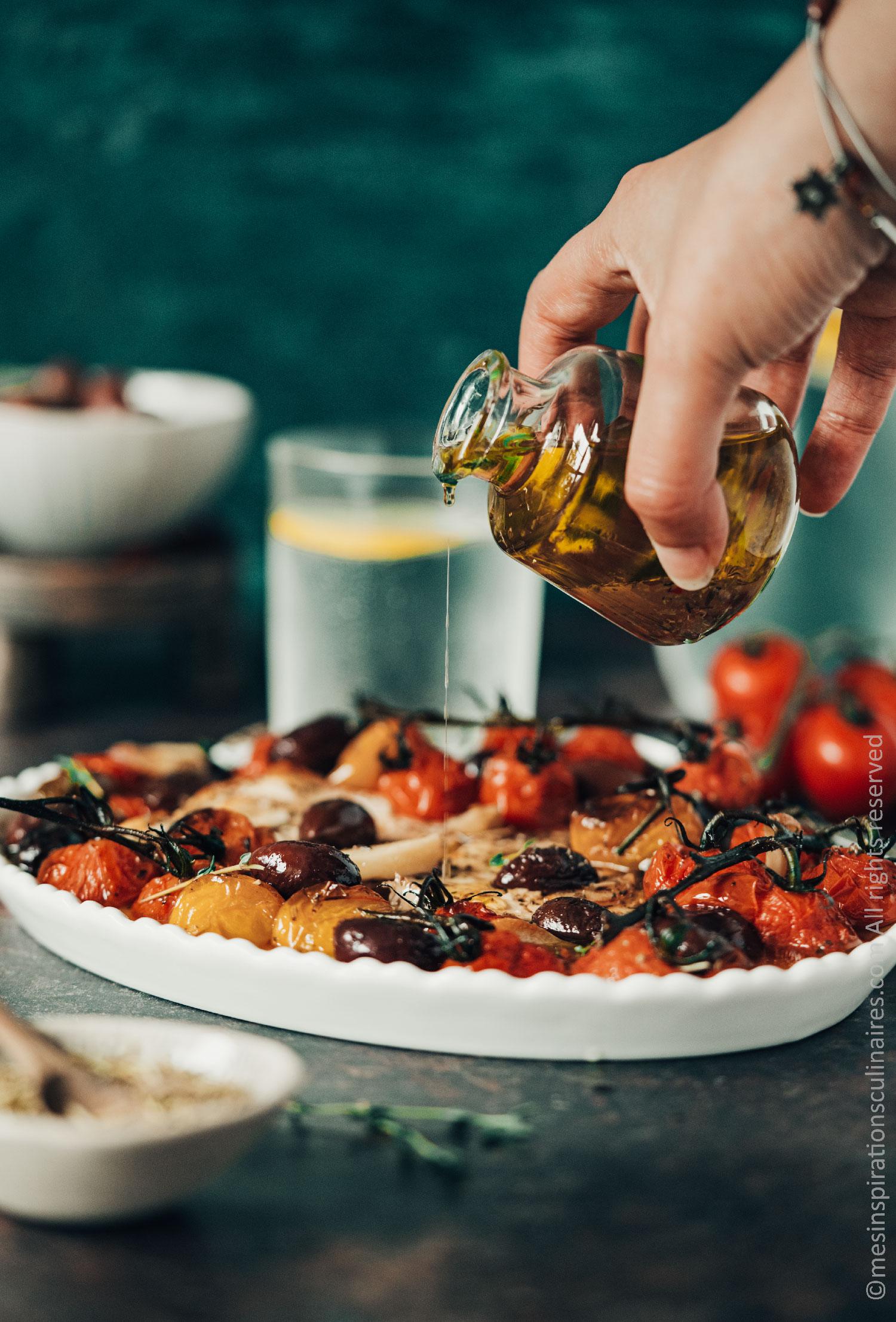 recette tomates cerises confites au four