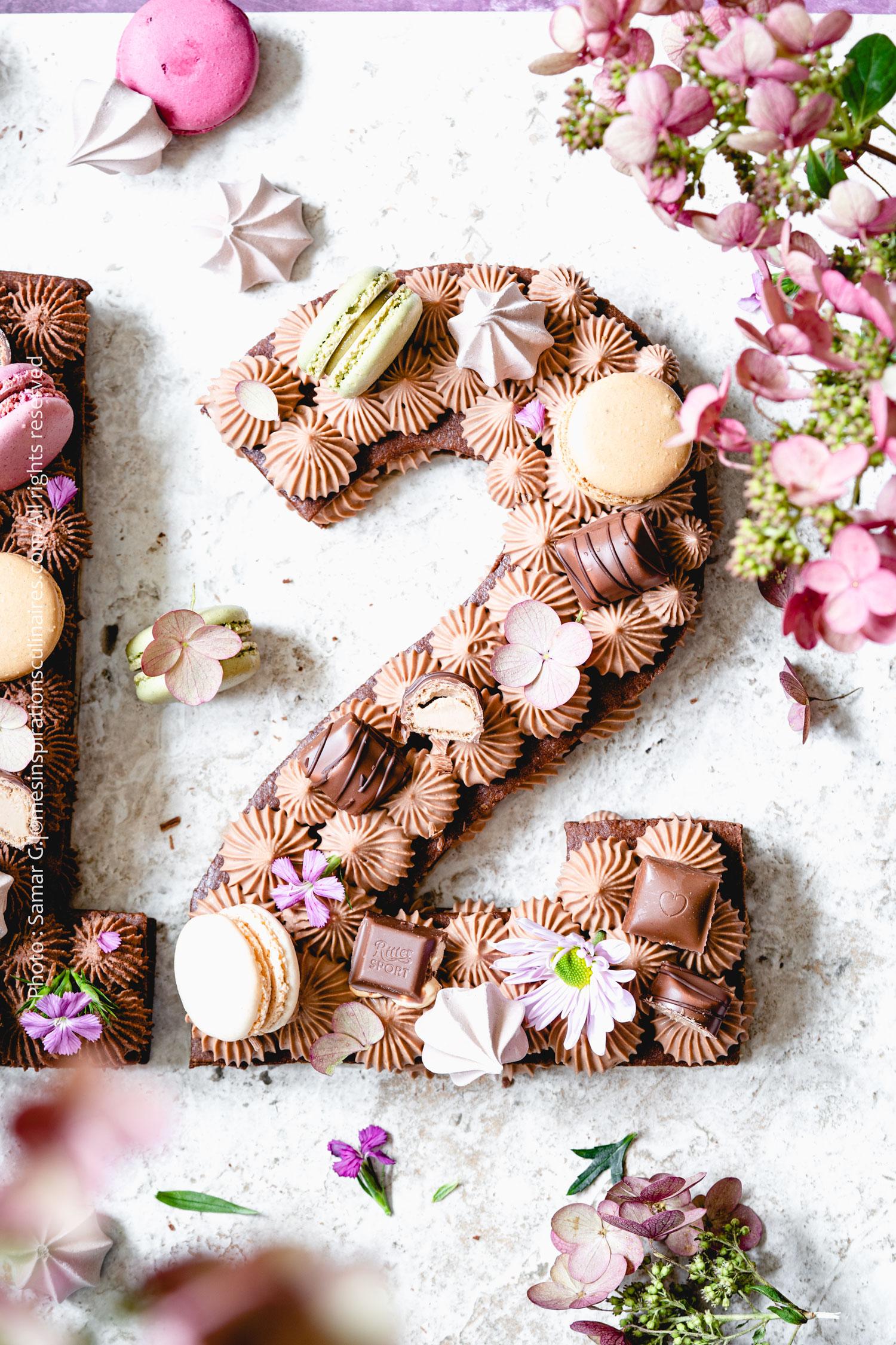 Number cake au chocolat gateau d'anniversaire enfant