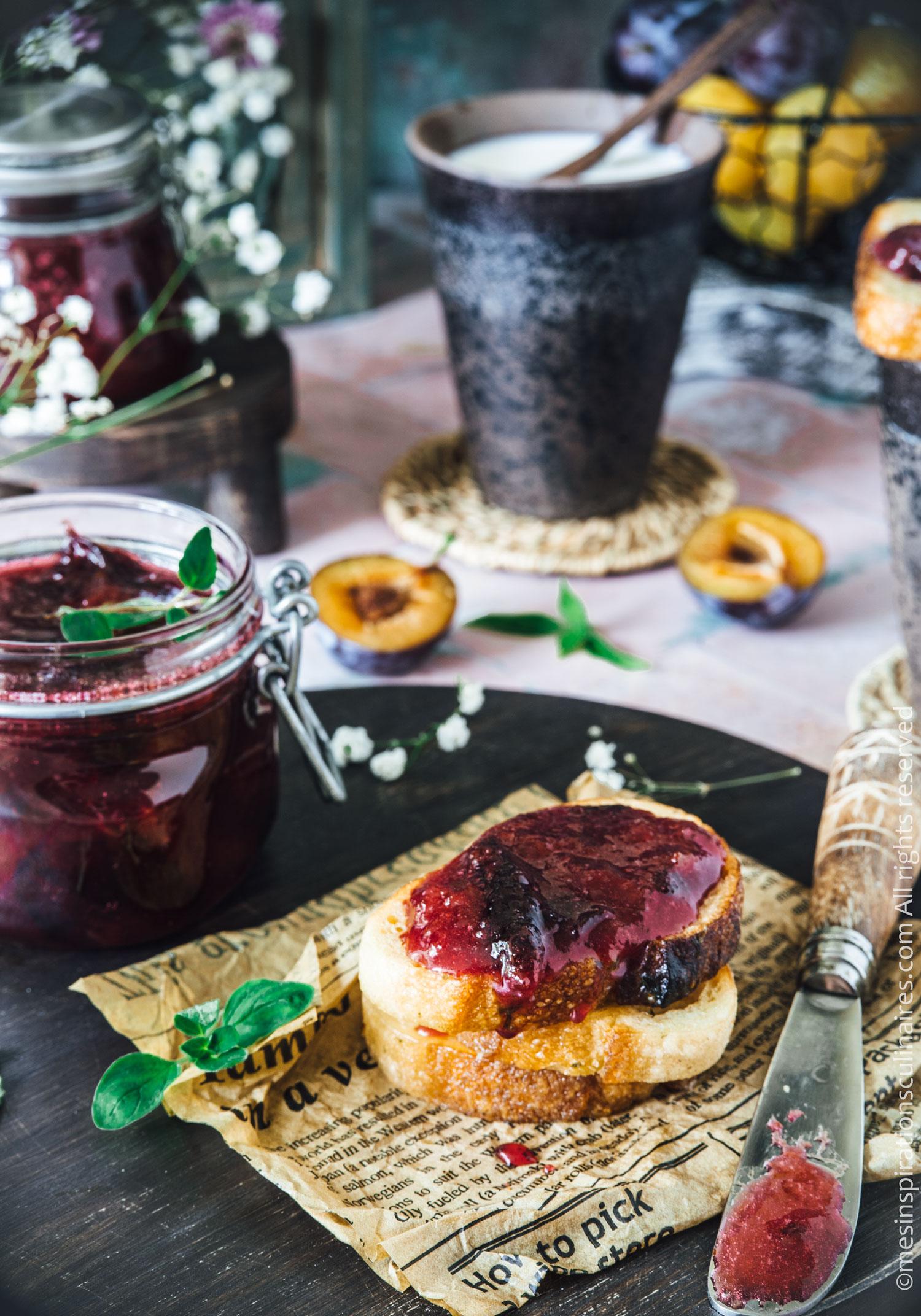 Confiture de prunes rouge, recette maison