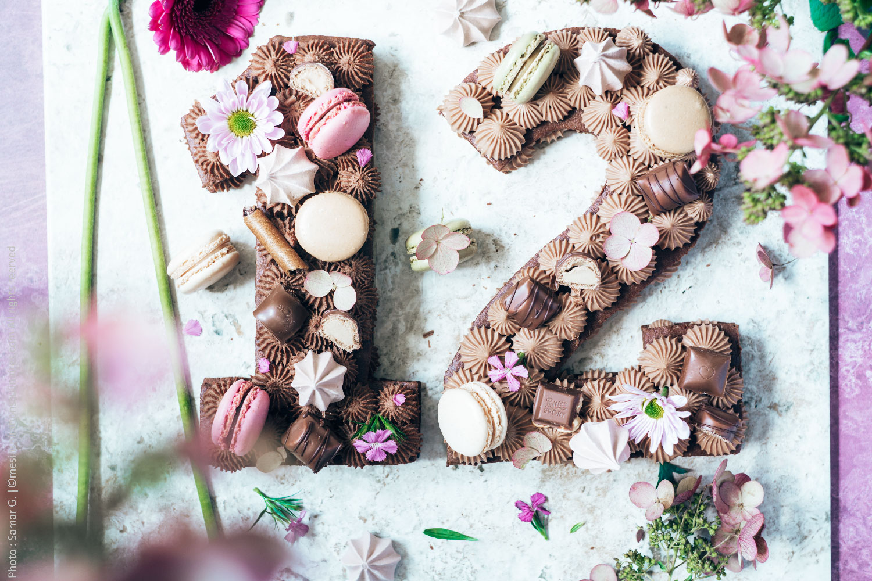 Number cake au chocolat au lait et kinder