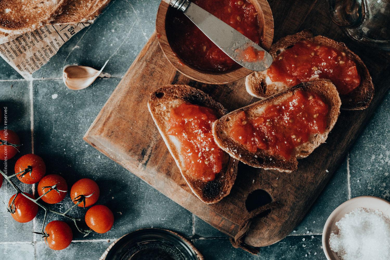 Pan con tomate, recette Catalane (idée Tapas)