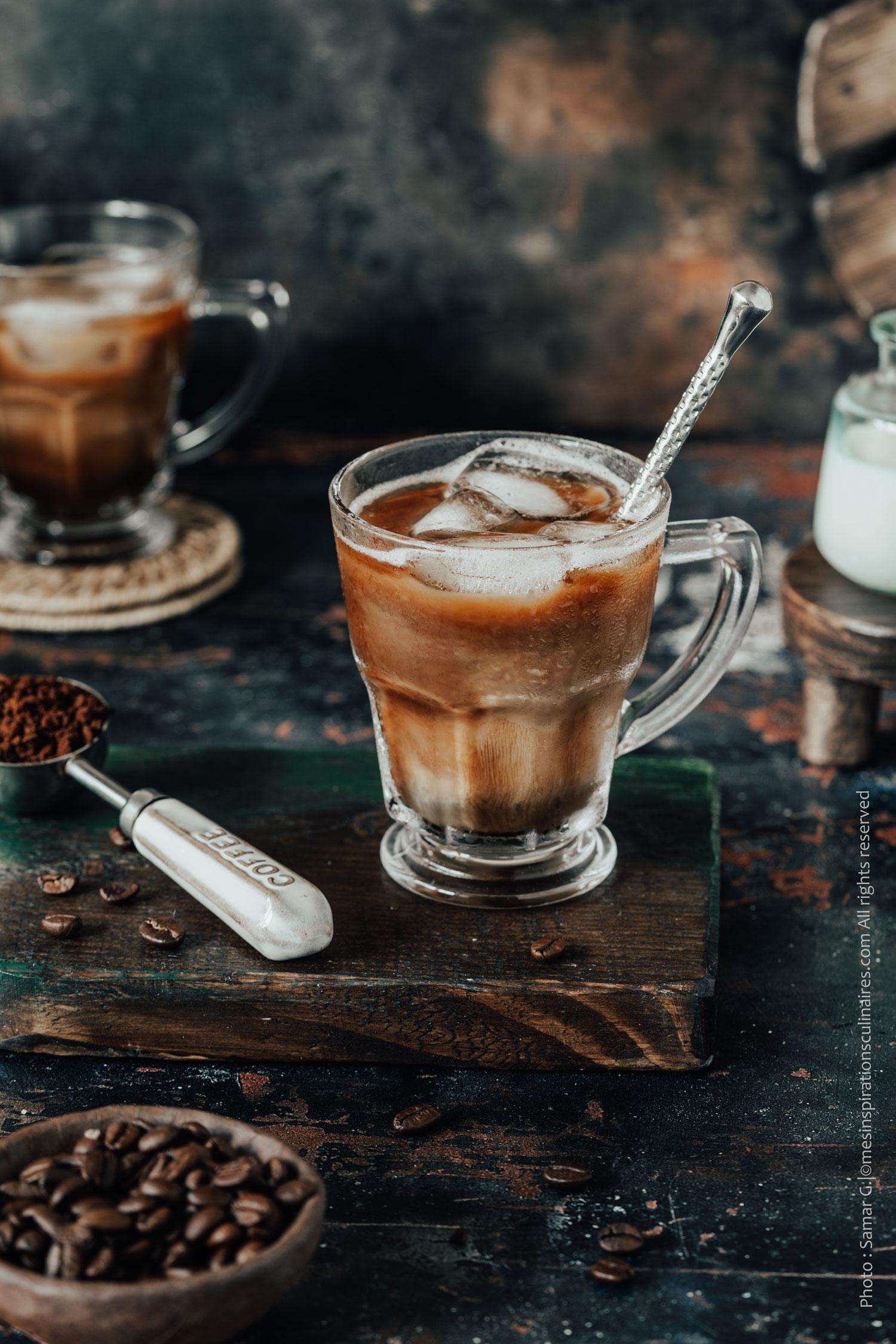 le café glacé américain
