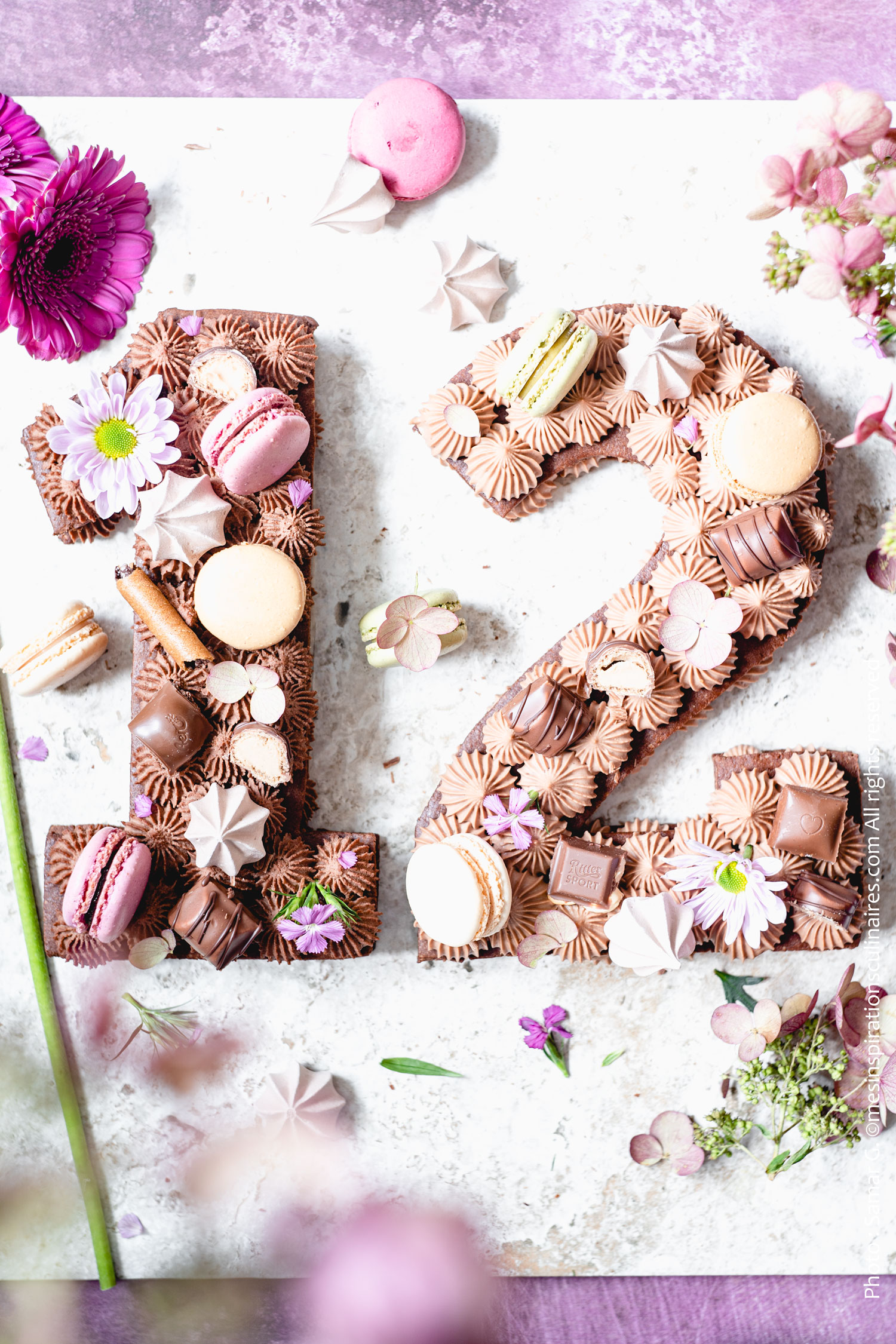 Number cake au chocolat kinder