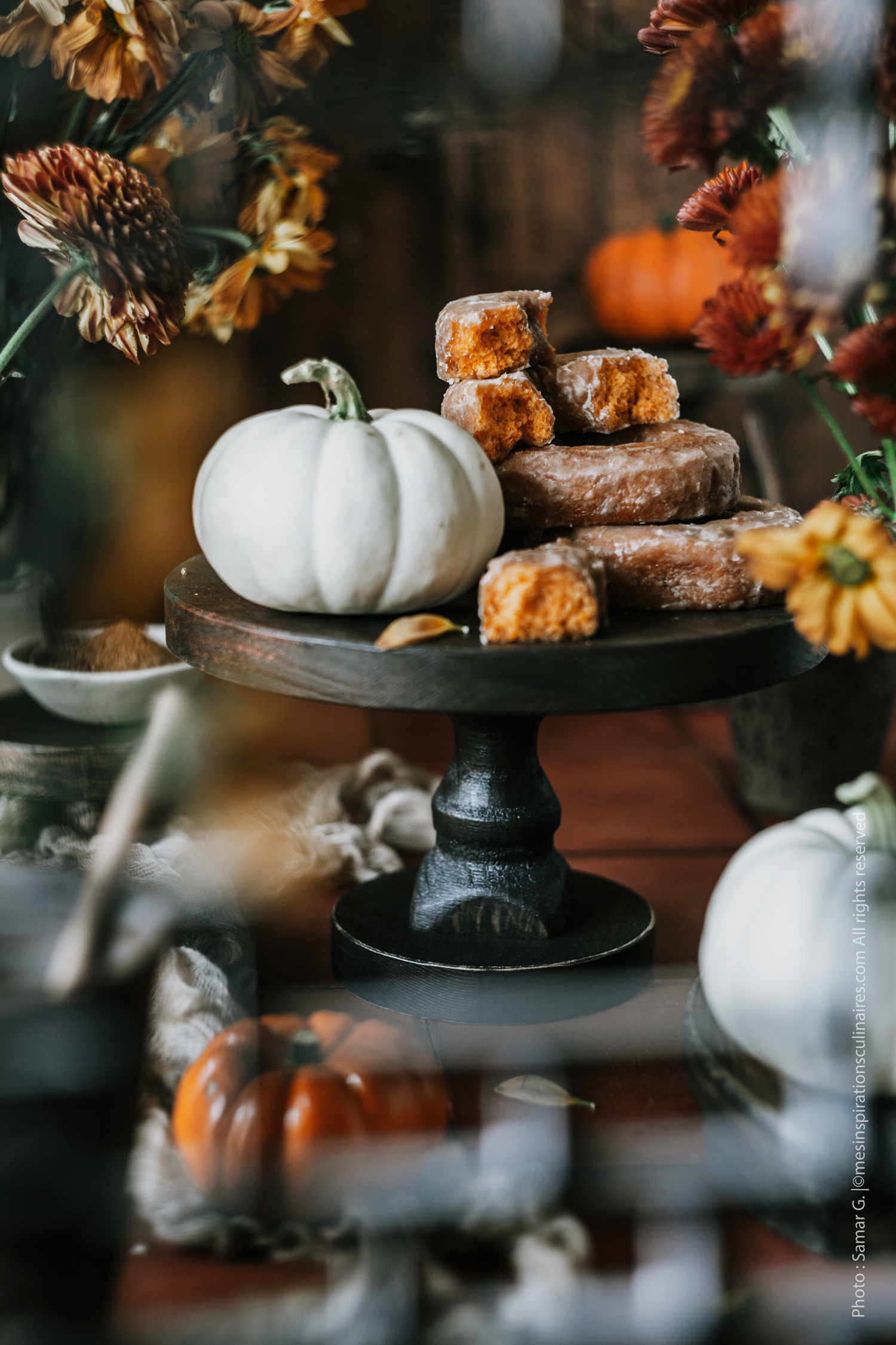 recette donut a la citrouille (pumpkin)